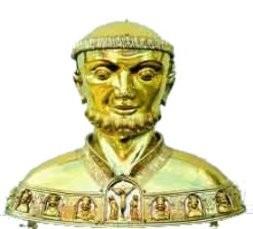 Busto relicario del santo.
