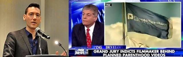 A la izquierda, David Dalaiden; a la derecha, Charles Limandri, en una intervención televisiva sobre el caso.