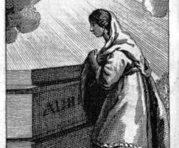 Natalia ante la tumba de Adrián.