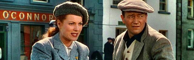 Una de las grandes cintas de todos los tiempos y una de las mejores de John Ford: John Wayne y Maureen OHara en El hombre tranquilo.