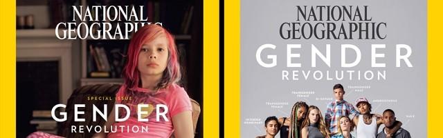 Estas son las dos portadas de National Geographic de este mes de enero centradas en la ideología de género