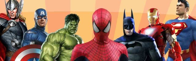 Superhéroes del universo Marvel -Vengadores, Spiderman- y del Universo DC -Batman, Superman