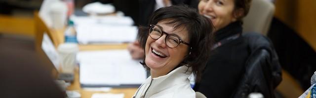 María Vallejo Nágera, en una de las clases del Máster / Bryan Panzano- Harvard