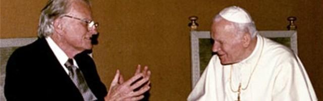 Billy Graham con Juan Pablo II - les unía una pasión por Cristo, por evangelizar y su lucha contra el comunismo deshumanizante