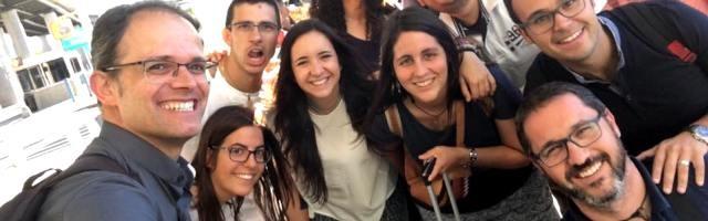 Bruno Bérchez - a la izquierda- de visita en Estados Unidos para explorar la Nueva Evangelización allí