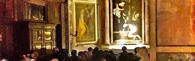 El cuadro puede admirarse en la Capilla Cavalletti de la basílica de San Agustín, en Roma.