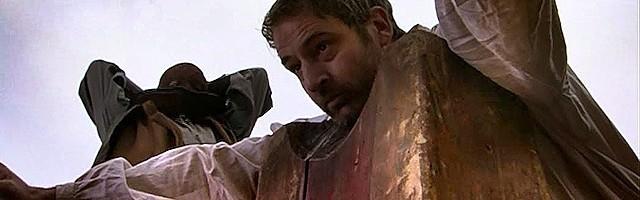 El momento de la ejecución de Tomás Moro, interpretado por Jeremy Northam en Los Tudor (2007).