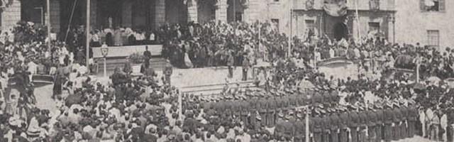 Misa de campaña durante la guerra de Cuba