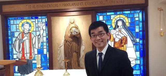 Masahiro Yuki es japonés pero se forma como seminarista en España y volverá a su país ya para evangelizar a los japoneses
