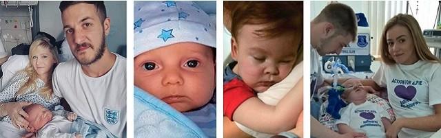 Primero fue Charlie y su familia (izquierda); y ahora ha sido Alfie: el objetivo es que no vuelva a repetirse