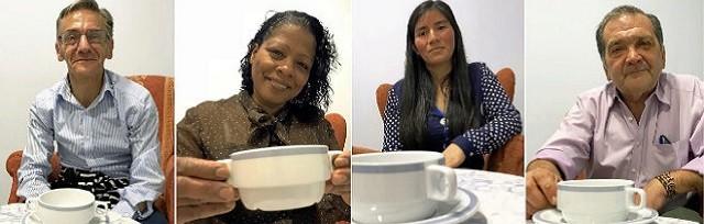 De izquierda a derecha: Ángel, la dominicana Calista; Elita, nacida en Perú;y el ya difunto José Manuel, protagonistas del reportaje