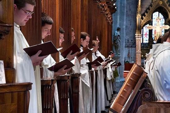 Cistercienses de la abadía austriaca de Heiligenkreuz.