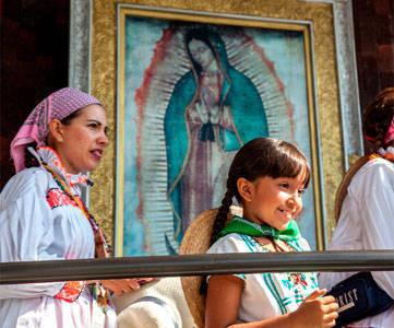 Peregrinos de la diócesis de Querétaro al Tepeyac