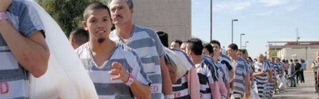 Prisioneros en un penal de México