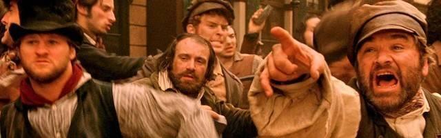 «Gangs of New York» (2002), de Martin Scorsese, una película donde está latente el conflicto religioso entre protestantes y católicos.