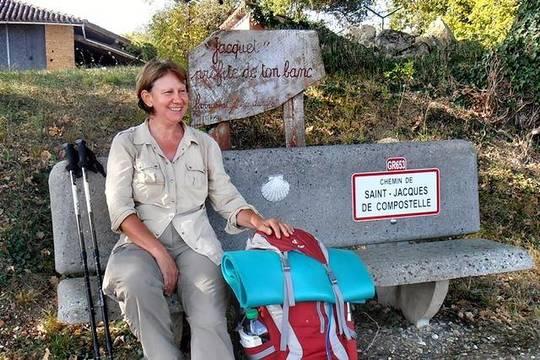 Brigitte consagra ahora su tiempo a continuar la hospitalidad compostelana con los peregrinos franceses.