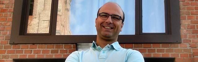 Juan Luis, a la puerta del seminario de Getafe.