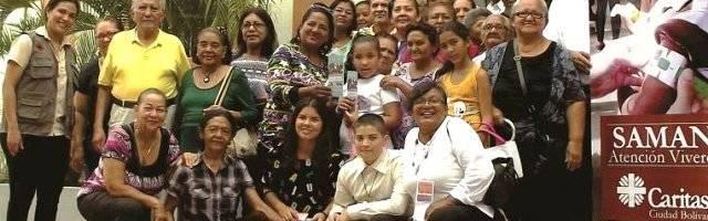 Voluntarios de una parroquia de Cáritas Ciudad Bolívar del programa Saman contra la malnutrición infantil