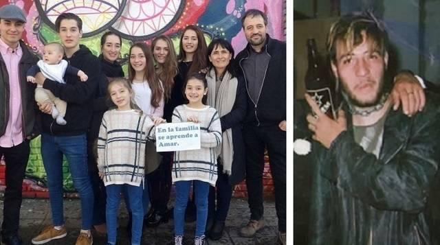 Ricardo pasó de punk a formar una familia numerosa con 9 hijos tras su conversión