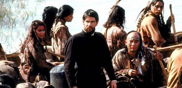 La película Manto Negro de 1991 se inspira en las expediciones jesuitas entre los hurones e iroqueses