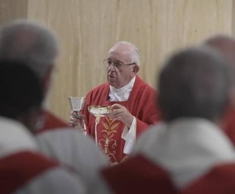 El Papa celebró misa en la memoria litúrgica de San Josafat, obispo y mártir
