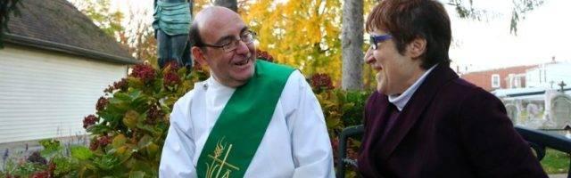 El diácono permanente Richard Malamut y su esposa Kathy... ella oró con perseverancia por su conversión