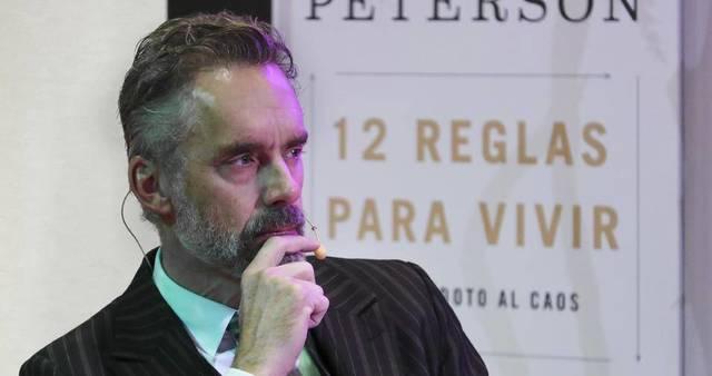 Jordan Peterson ha estado recientemente en España presentando su libro. En la imagen, durante un acto en la Universidad Francisco de Vitoria.