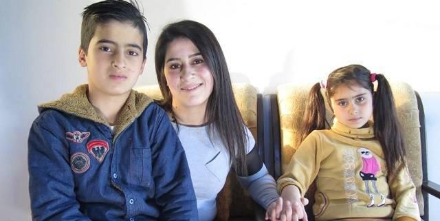 Rasha Drazy tenía  23 años cuando recibió la noticia de que su marido, conductor de autobús, fue asesinado por un francotirador.