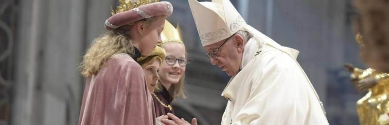 El Papa Francisco presidió en la basílica de San Pedro la misa por la festividad de María Madre de Dios