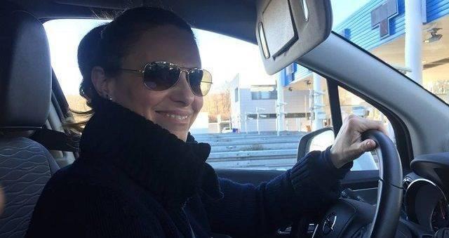 Federica, al volante en uno de los viajes a Medjugorje que ha realizado en estos años