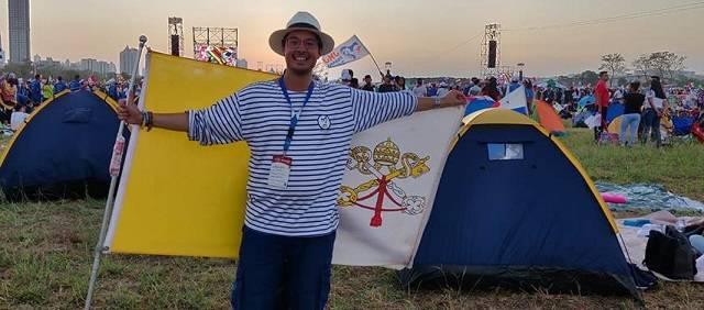 Naoki, durante la Jornada Mundial de la Juventud de Panamá