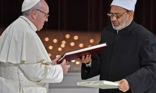 El Papa Francisco y el Gran Imán de Al Azhar, Al Tayeb, han firmado un acuerdo conjunto para combatir las políticas que van contra la vida