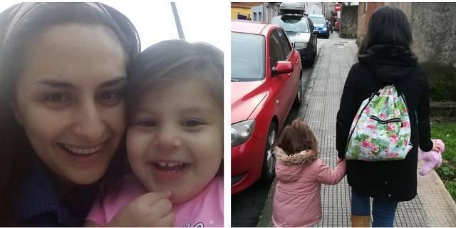 Alba y su hija Salma, que tenía ocho meses cuando decidió abortar / Fotos cedidas por Alba Alonso