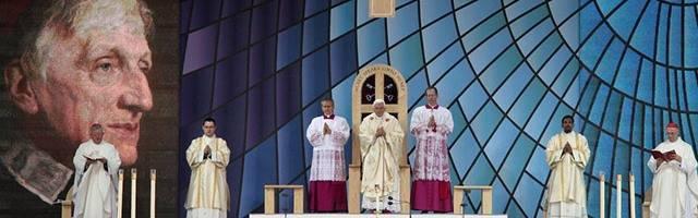 Benedicto XVI en la beatificación del cardenal Newman en 2010 en Inglaterra... ahora, se aprueba su segundo milagro y puede ser canonizado