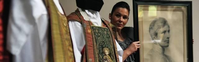 Objetos del cardenal Newman que se exhibieron en 2010 durante su beatificación por Benedicto XVI en su viaje a Gran Bretaña