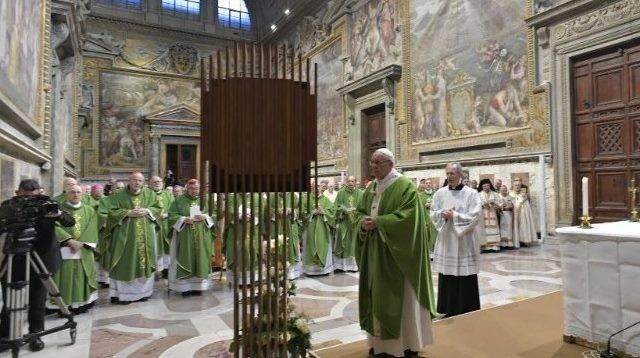 La Sala Regia fue el escenario de la misa y alocución final de la cumbre antiabusos en el Vaticano
