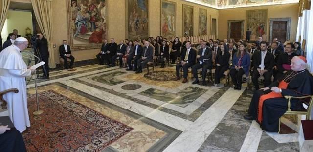 El Papa recibió a miembros de la Academia de Líderes Católicos en el Vaticano / Vatican Media