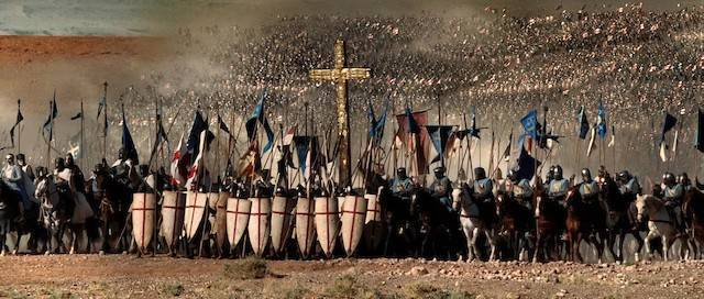 Una escena de «El reino de los cielos» (2005), de Ridley Scott, rica en recursos escénicos pero todo un ejemplo de desfiguración histórica.