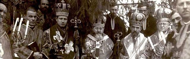 Con corona los obispos grecocatólicos Hossu, Frentiu, Nicolescu y Rusu... la persecución comunista fue tenaz y cruel