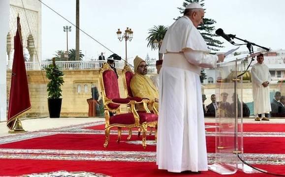 Francisco evocó ante Mohamed VI el documento que recientemente firmó en Abu Dabi.