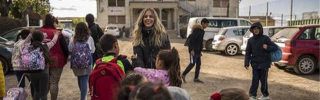 Los niños de la Cañada llegan a las aulas de Cáritas (Foto de Olmo Calvo)
