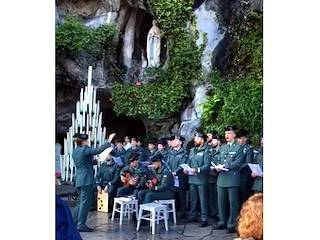 La Salve de la Guardia Civil en Lourdes