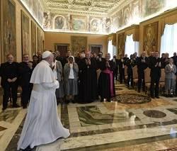 El Papa quiso alabar la labor que realizan los misioneros del PIME / Vatican Media