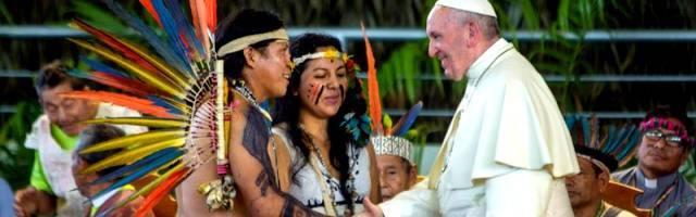 Francisco habló ya de un Sínodo sobre la Amazonía cuando visitó Puerto Maldonado en Perú, en enero de 2018