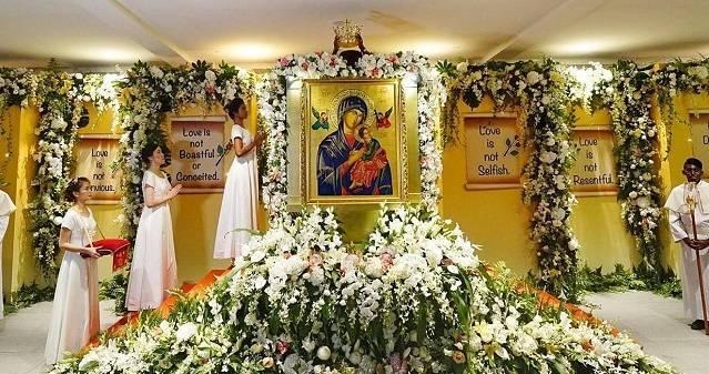 Los católicos de Singapur tienen una especial devoción a la Virgen del Perpetuo Socorro