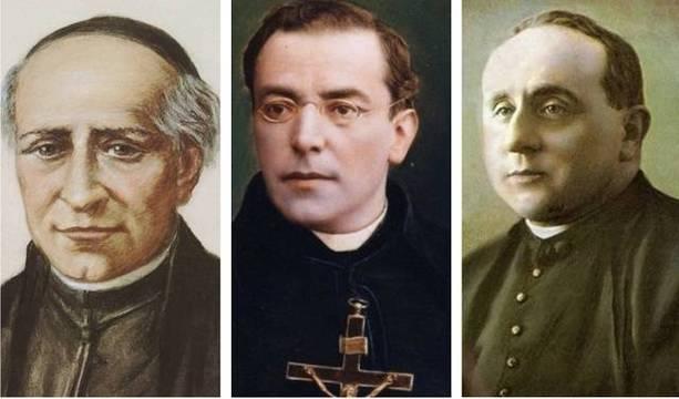 De izquierda a derecha: Joachim Masmitjá i Puig, José Antonio Plancarte y Labastida, José Pío Gurruchaga Castuariense