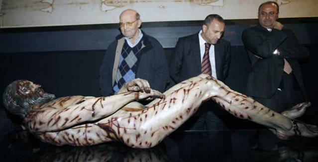 Imagen del hombre de la Sábana Santa en 3D y realizado por José Manuel Miñarro