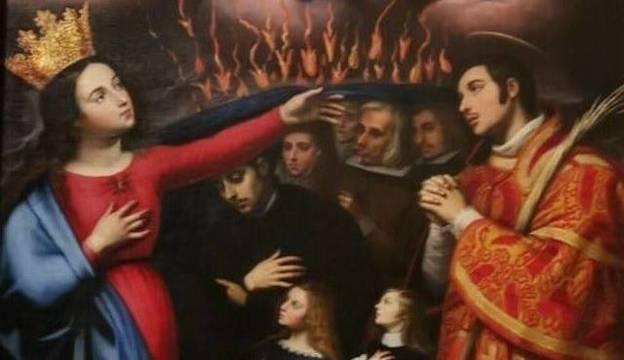 """""""La Virgen contra la peste"""", cuadro del siglo XVIII de la Escuela de Ribalta y que actualmente se encuentra en la Catedral de Valencia"""