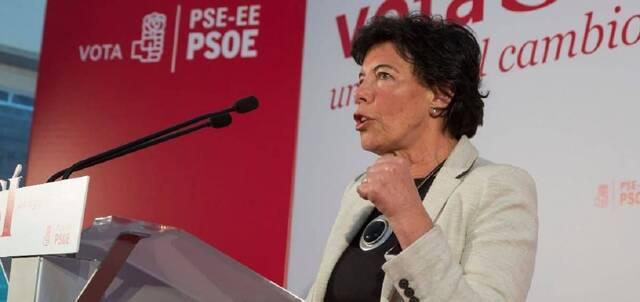 Isabel Celaá, ministra de Educación del Gobierno PSOE-Podemos, al frente del hostigamiento a la escuela concertada
