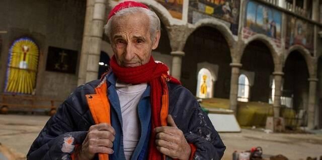 Justo Gallego, ex-monje, ha dedicado toda su vida a construir la llamada catedral de Mejorada, él solo